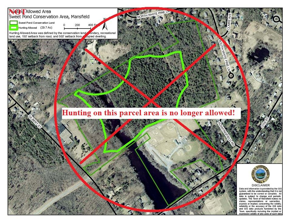 Not Allowed Hunting - Sweets Pond Conservation Land