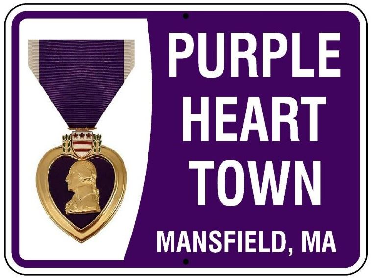 Purple-Heart Town Mansfield MA